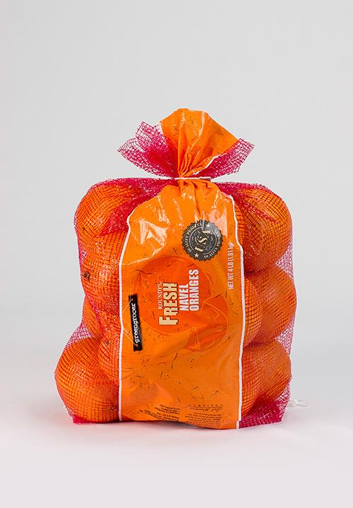 oranges in a Fresh Mesh bag